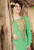 Designer Tops:atisundar exquisite Faux Georgette Designer Embroidered Party Wear Top in Green - 11050 - atisundar - 4 - click to zoom