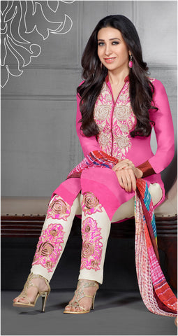 The Karishma Kapoor Collection:atisundar excellent Pink Designer Straight Cut  - 7027 - atisundar - 3 - click to zoom