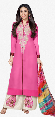 The Karishma Kapoor Collection:atisundar excellent Pink Designer Straight Cut  - 7027 - atisundar - 1 - click to zoom