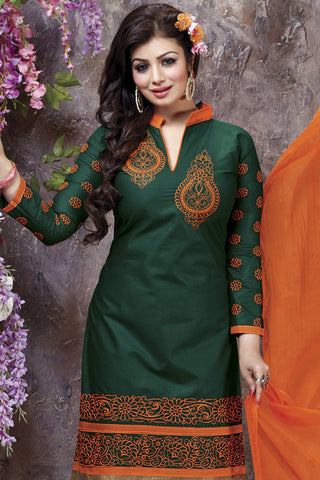 Designer Straight Cut:atisundar exquisite Green Designer Party Wear Straight Cut - 12868