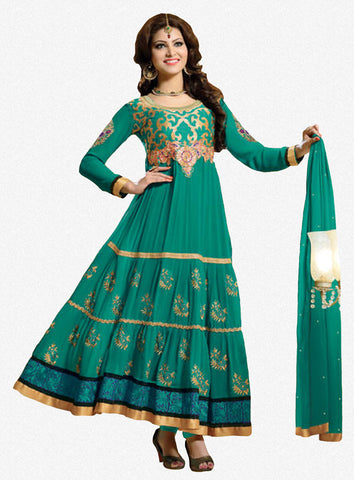 Urvashi Rautela Miss Universe Collection:atisundar magnificent   in Rama Green - 5249 - atisundar - 1 - click to zoom