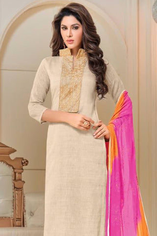 Designer Straight Cut:atisundar charming Cream Designer Party Wear Straight Cut - 12872