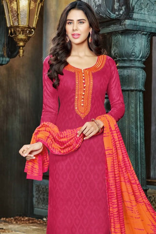 Designer Straight Cut:atisundar Charismatic Pink Designer Party Wear Straight Cut - 12874