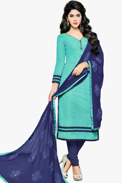 Designer Straight Cut:atisundar delightful Sky Blue Designer Party Wear Straight Cut in Satin Cotton - 11824 - atisundar - 1 - click to zoom
