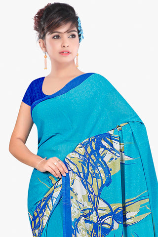 Designer Party wear Saree:atisundar admirable Designer Sarees in Sky Blue  - 11449 - atisundar - 2