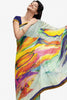 Jhoomta Sawan Designer Printed Saree Collection:atisundar   Lovely Designer Printed Saree in Off White & Multi   - 5329 - atisundar - 1 - click to zoom