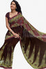 Jhoomta Sawan Designer Printed Saree Collection:atisundar   fair Designer Printed Saree in Dark Brown & Olive Green  - 5332 - atisundar - 1 - click to zoom