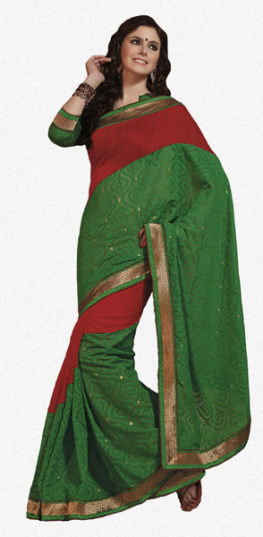 Rajguru Radiance:atisundar   fascinating Designer Embroidery Saree in Green  - 5388 - atisundar - 2 - click to zoom