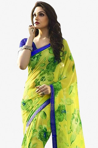 Designer Saree:atisundar charming Designer Party Wear Saree in Yellow  - 13783