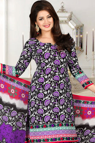 Radiant Print:atisundar lovely   in Purple And Black - 5536 - atisundar - 3