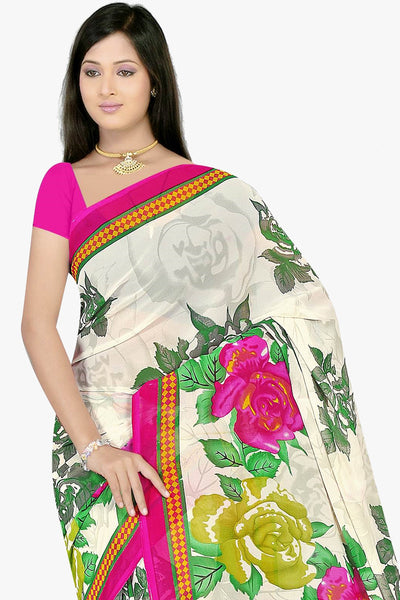 Designer Party wear Saree:atisundar Charismatic Designer Sarees in White  - 11461 - click to zoom