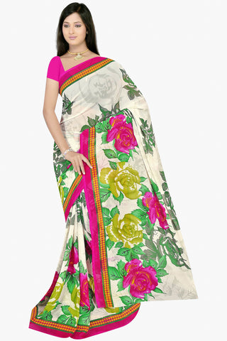Designer Party wear Saree:atisundar Charismatic Designer Sarees in White  - 11461 - atisundar - 1 - click to zoom