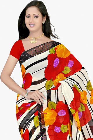 Designer Party wear Saree:atisundar Great Designer Sarees in White  - 11464 - atisundar - 2