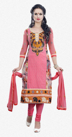 Pure Cotton Delite:atisundar Beautiful   in Peach - 5631 - atisundar - 1 - click to zoom