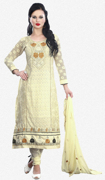 Pure Cotton Delite:atisundar elegant   in Cream - 5635 - atisundar - 1 - click to zoom