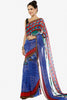 Designer Printed Sarees:atisundar   gorgeous Designer Printed Saree in Blue  - 5641 - click to zoom