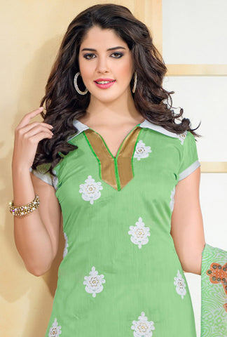 Chanderi Cotton Suits:atisundar Smart   in Light Green - 5690 - atisundar - 4