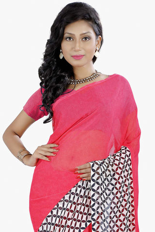 Designer Party wear Saree:atisundar refined Designer Sarees in Pink  - 11466 - atisundar - 2 - click to zoom