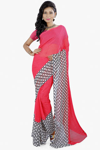 Designer Party wear Saree:atisundar refined Designer Sarees in Pink  - 11466 - atisundar - 1 - click to zoom