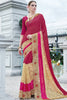 Designer Saree:atisundar enticing Faux Georgette with Rachel Net Embroidered Saree with Banglori Blouse in Maroon  - 13077 - click to zoom