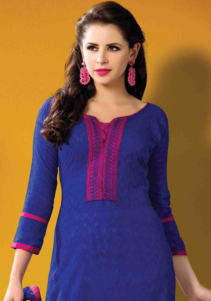 Designer Embroidered Suits In Jacquard:atisundar excellent   in Blue - 5714 - atisundar - 4 - click to zoom