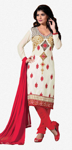 Designer Embroidered Cotton Lawn Suits:atisundar Superb   in White - 5728 - atisundar - 2 - click to zoom