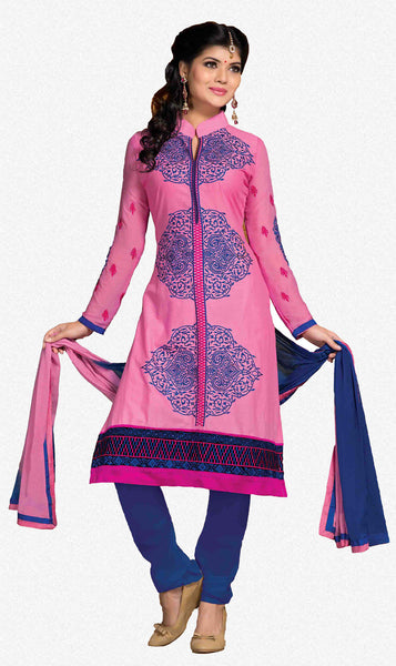 Designer Embroidered Cotton Lawn Suits:atisundar refined   in Pink - 5729 - atisundar - 2 - click to zoom