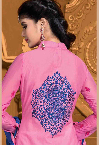 Designer Embroidered Cotton Lawn Suits:atisundar refined   in Pink - 5729 - atisundar - 4