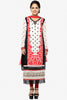 Designer Embroidered Straight Cut In Pure Cotton:atisundar bewitching   in Off White And Red - 5738 - click to zoom
