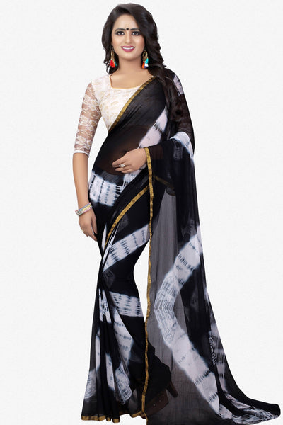 Designer Saree:atisundar classy Designer Party Wear Saree in Black  - 13760 - click to zoom
