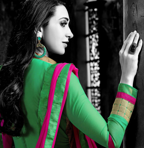 The Karishma Kapoor Collection:atisundar Attractive Green Designer Straight Cut  - 7508 - atisundar - 4