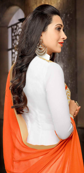The Karishma Kapoor Collection:atisundar Awesome Off White Designer Straight Cut  - 7509 - atisundar - 3 - click to zoom