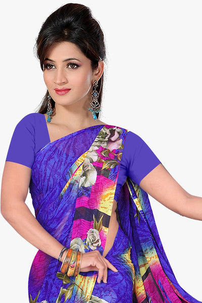 Designer Party wear Saree:atisundar Attractive Designer Sarees in Purple  - 11470 - click to zoom