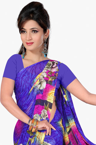 Designer Party wear Saree:atisundar Attractive Designer Sarees in Purple  - 11470 - atisundar - 2 - click to zoom