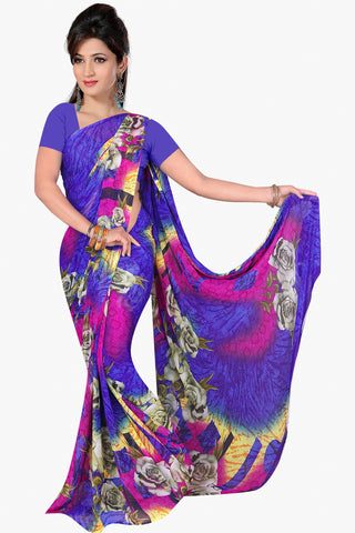 Designer Party wear Saree:atisundar Attractive Designer Sarees in Purple  - 11470 - atisundar - 1 - click to zoom