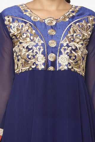 Parineeti Chopra For Siya:atisundar charming Blue Bollywood Embroidered Anarkali - 5954