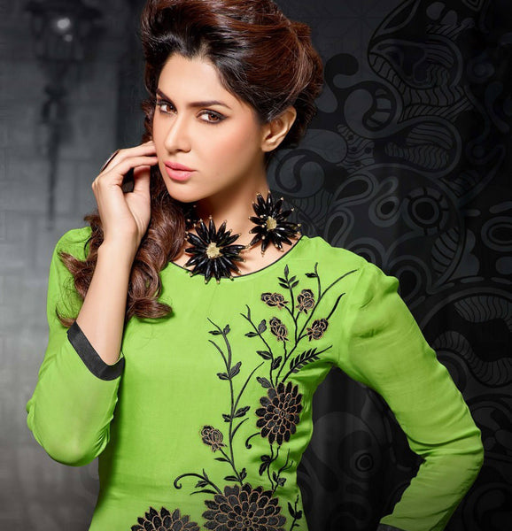 Designer Tops:atisundar splendid Faux Georgette Designer Tops in Green - 9353 - atisundar - 3 - click to zoom
