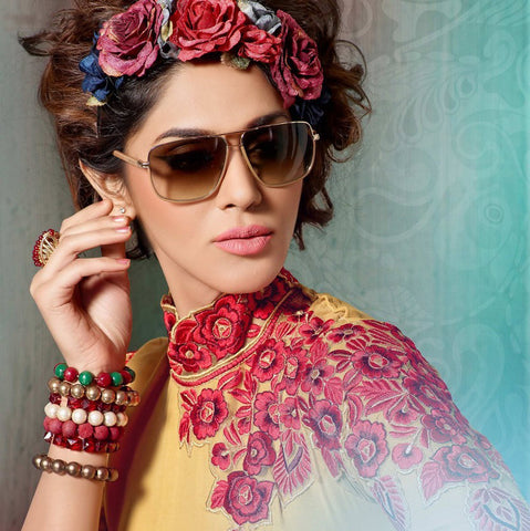 Designer Tops:atisundar bewitching Faux Georgette Designer Tops in Yellow And Red - 9365 - atisundar - 3