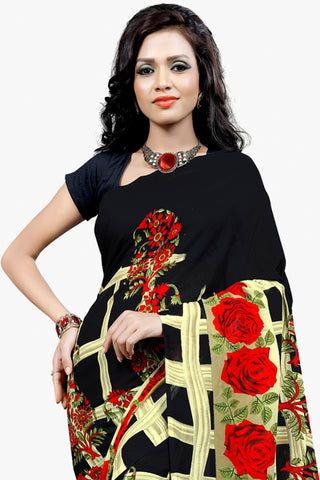 Designer Party wear Saree:atisundar Alluring Designer Sarees in Black  - 11477 - atisundar - 2 - click to zoom