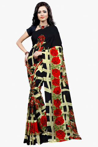 Designer Party wear Saree:atisundar Alluring Designer Sarees in Black  - 11477 - atisundar - 1 - click to zoom