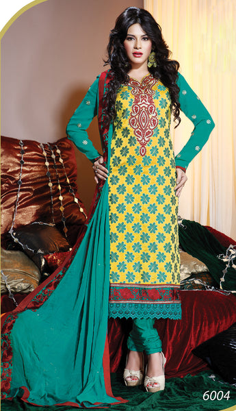 Refined Unstitched Designer Salwar Suit  - 3992 - atisundar - 2 - click to zoom