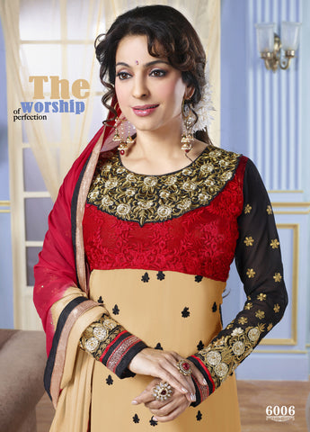 The Juhi Chawla Collection:atisundar lovely   in Beige And Black - 5207 - atisundar - 3