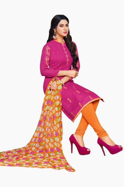Designer Straight Cut Suits:atisundar Superb Pink Designer Straight Cut  - 14349 - click to zoom