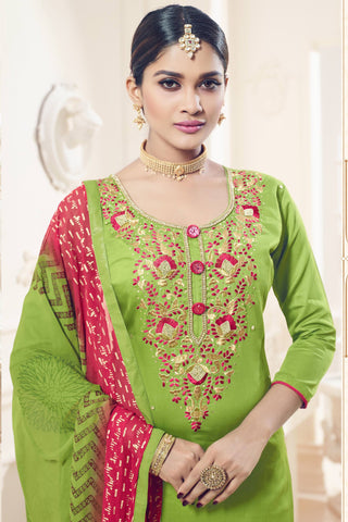 Designer Straight Cut:atisundar admirable Green Designer Party Wear Straight Cut - 12821