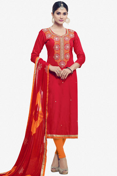Designer Straight Cut:atisundar wonderful Red Designer Party Wear Straight Cut - 12824 - click to zoom