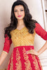 Designer Anarkali:atisundar Beautiful Red Designer Embroidered Anarkali - 10676 - atisundar - 3 - click to zoom