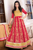 Designer Anarkali:atisundar Beautiful Red Designer Embroidered Anarkali - 10676 - atisundar - 2 - click to zoom