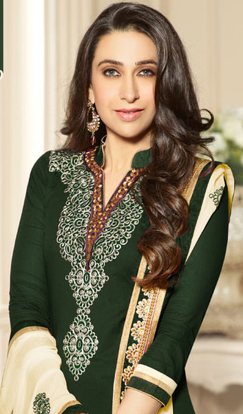The Karishma Kapoor Collection:atisundar graceful Green Designer Embroidered Suits - 9851 - atisundar - 2 - click to zoom