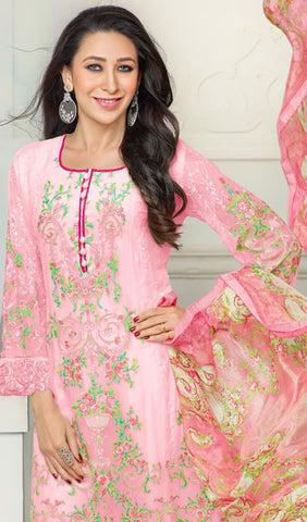 The Karishma Kapoor Collection:atisundar radiant Pink Designer Straight Cut  - 9796 - atisundar - 2