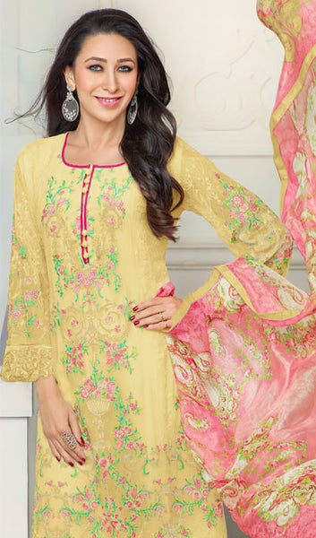 The Karishma Kapoor Collection:atisundar splendid Yellow Designer Straight Cut  - 9797 - atisundar - 2 - click to zoom